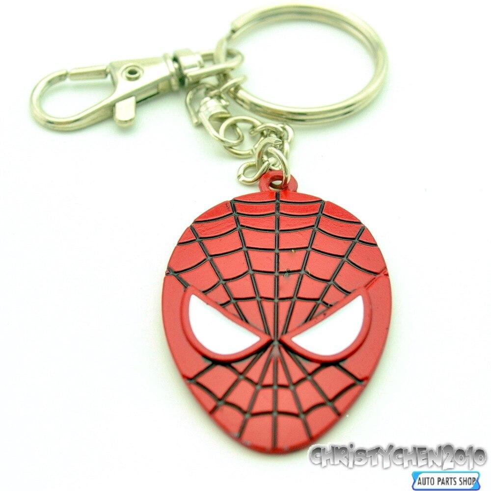 <font><b>Spiderman</b></font> <font><b>Key</b></font> Chain Car Pendant <font><b>Key</b></font> Fob Metal Spider Man Car Motorbike <font><b>Key</b></font> <font><b>Ring</b></font> Bicycle <font><b>Styling</b></font> Decoration 232