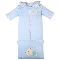 Sunny Jv 0 3 Year old Baby Autumn and Winter Baby Thickening Long Sleeping Bag, Removable Sleeve Cap Bag