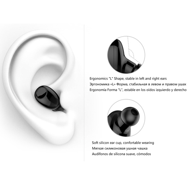 Mini Bluetooth Earphone 10 Hrs Working, Bluetooth Headset Wireless Earbud Earphone Hands-free For Car Driving Phone Sport
