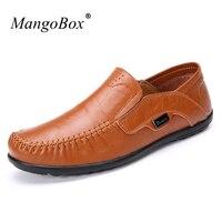 MangoBox Big Size 39 47 Men Driving Footwear Adult Brown Casual Sneakers Fashion Boat Shoes Slip