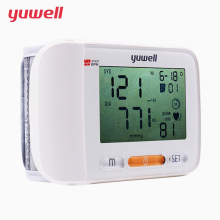 yuwell Wrist blood pressure monitor Medical Health Equipment Blood Pressure Meter LCD Digital automatic sphygmomanometer 8600A yuwell diving steel tube basic type wheelchair handicapped folding back portable wheelchair home health medical equipment h050