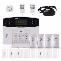 GSM Alarm LCD 433MHz Voice Auto Dialer Wireless GSM Home Alarm System For Home Office Security