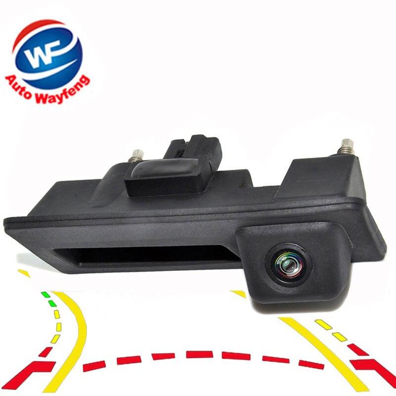 Car Trunk handle Intelligent Trajectory Tracks Rear View Parking Camera For Audi/VW/Passat/Tiguan/Golf/Touran/Jetta/Touareg