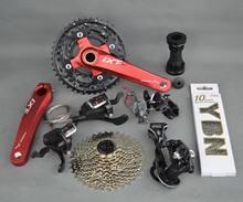 Microshift alavanca de câmbio xcd xle, kit de bicicleta mtb de 10 velocidades, compatível com slx m610 chian, envio gratuito