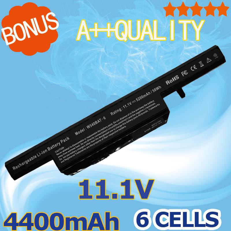 6 Cells Laptop battery for Clevo W550SU W155EU W155U W545EU W540BAT-6 W540BAT 6 W550EU