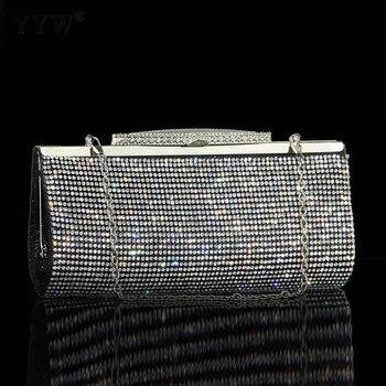 comprar popular 62351 4441b Bolsos de mano para fiesta de noche, bolso de boda, bolsos de hombro,  bandolera, bolso de cadena de diamantes de imitación, mini diseño de moda  nuevo ...