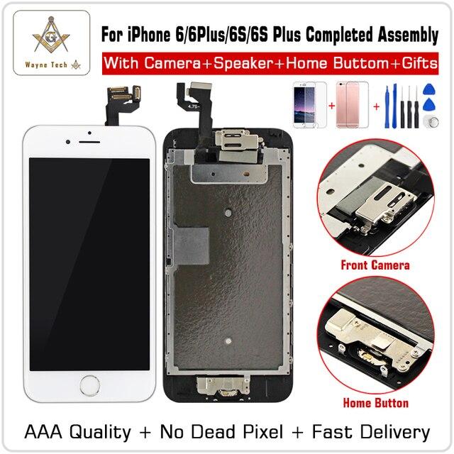 Качество AAA 100% Хорошая рабочая Замена для iPhone 6 S P 7G lcd дигитайзер сенсорный экран завершенный сборка с частями + подарки