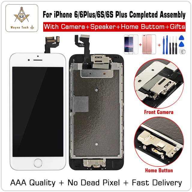 AAA Quality 100% Good Working Replacement  For iPhone 6 S P  7G  LCD Digitizer Touch Screen Completed Assembly With Parts+Gifts