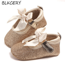 Baby Girl Shoes Newborn Soft Moccasins Gold Moccs Infant Cute Fashion Bow Toddler 1 Year Old First Walkers Mary Jane Flats