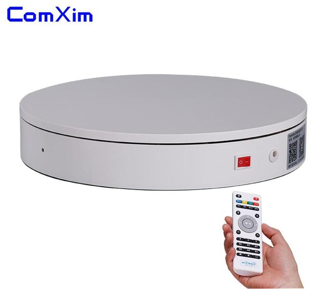 ComXim 32cm 12.6in Remote Control Rotating Electric Photography Turntable,Display Stand,