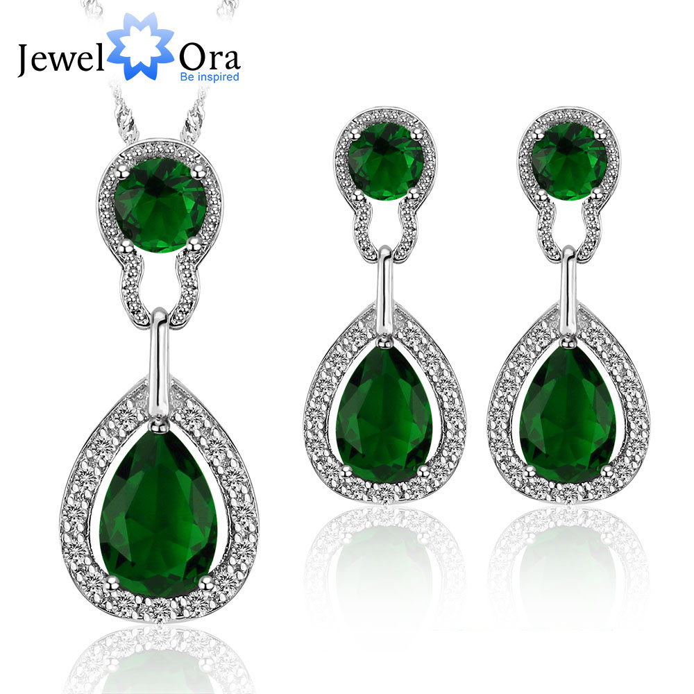 Multicolor wedding jewelry sets for women bridal silver for Decor jewelry