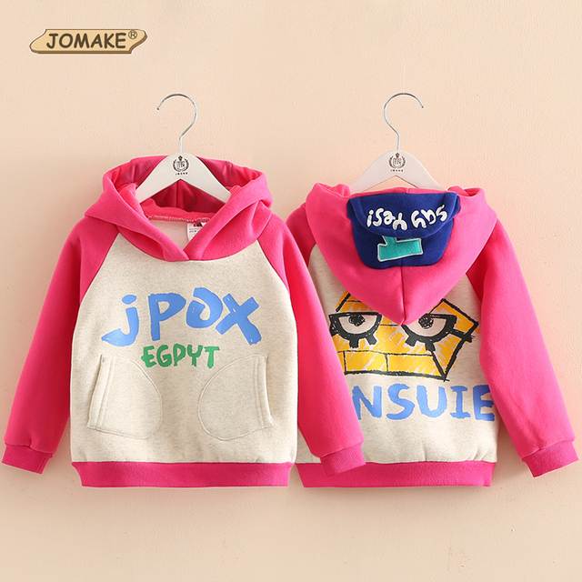 Graffiti Letter Kids Girls Hoodies & Sweatshirts Fashion New Cap Hooded Pullover Coat Baby Girl Clothes Fleece Children Clothing