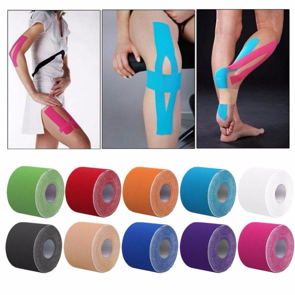 Sports Fitness Kinesiology Tape Care Kinesio Roll Cotton Strain Injury Support Muscle Stickers Elastic Adhesive Muscle Bandage