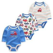 3Pcs/lot Newborn Baby Clothes Unisex Full Sleeve Toddler Rom