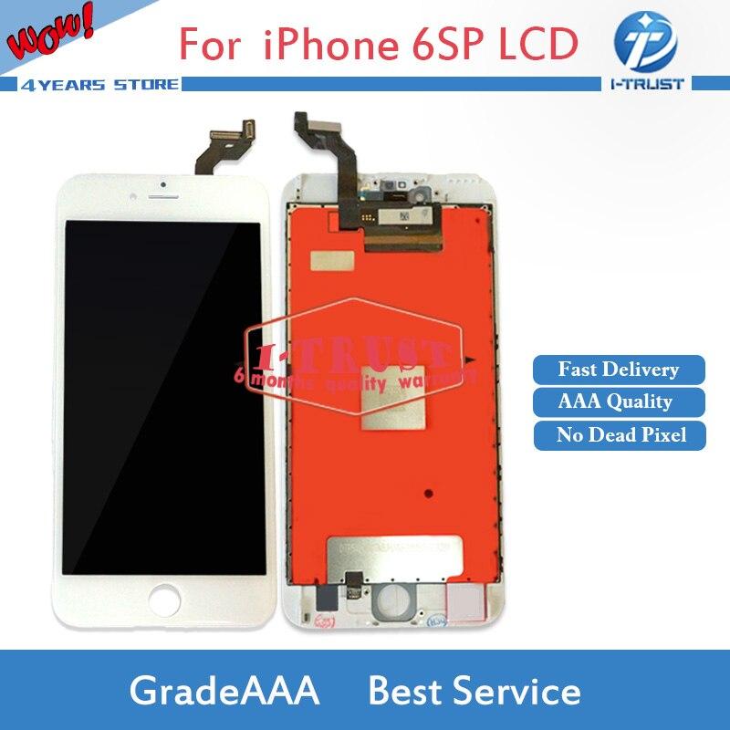 imágenes para 10 UNIDS Grado A + + + Para el iphone 6 S Plus Pantalla LCD de Repuesto con Pantalla Táctil Digitalizador Asamblea No Muertos Pixel Envío Libre