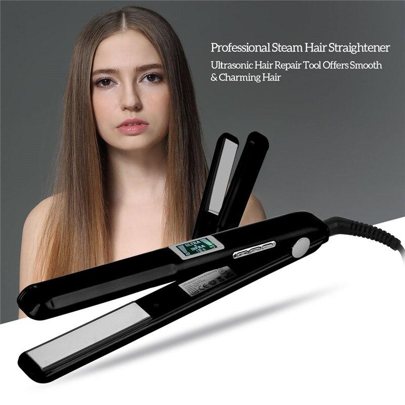 Ultrasonic Infrared Ray Hair Repair Tool Professional Steam Hair Straightener Flat Iron Hair Care Straightening Iron