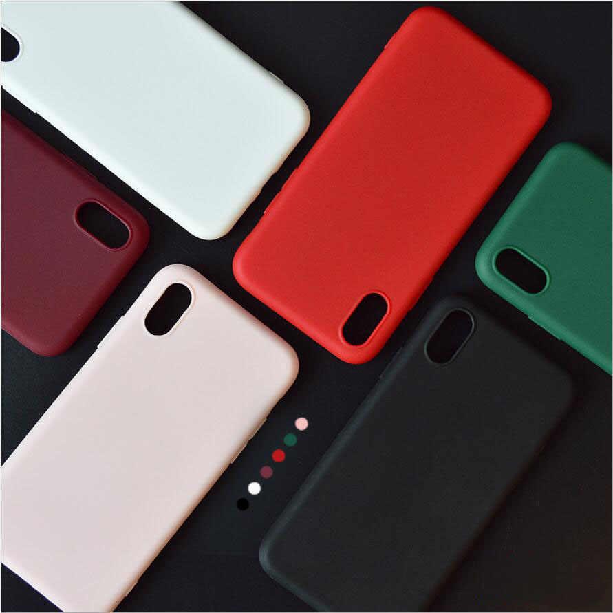 Cukierki kolor matowe etui na telefon dla iPhone 7 Plus 6 S 6s 8 5 5S SE dla iPhone XS MAX X S XR proste stałe etui z miękkiego tpu tylna okładka