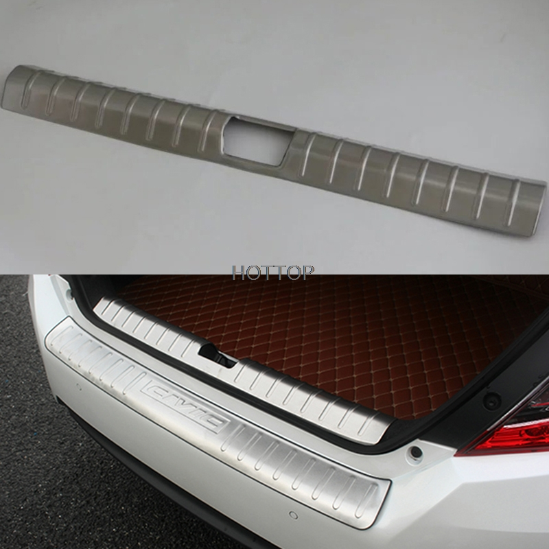 Stainless steel Rear Bumper Protector sill plate cover for 2016 2017 Honda Civic