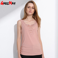 GAREMAY Womens Summer Tank Top 2016 Lace Elegant OL Blusa Tank Camis For Women Fashion Work