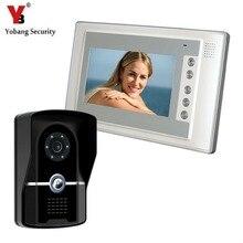 Yobang Security 700TVL Security Camera Intercom Video Door Phone Doorbell Access Control System Hands Free Monitor IR doorphone