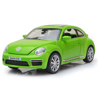 Pull Back Volkswagen Beetle Car Model 1 32 Alloy Vehicles Diecast With Light Sound