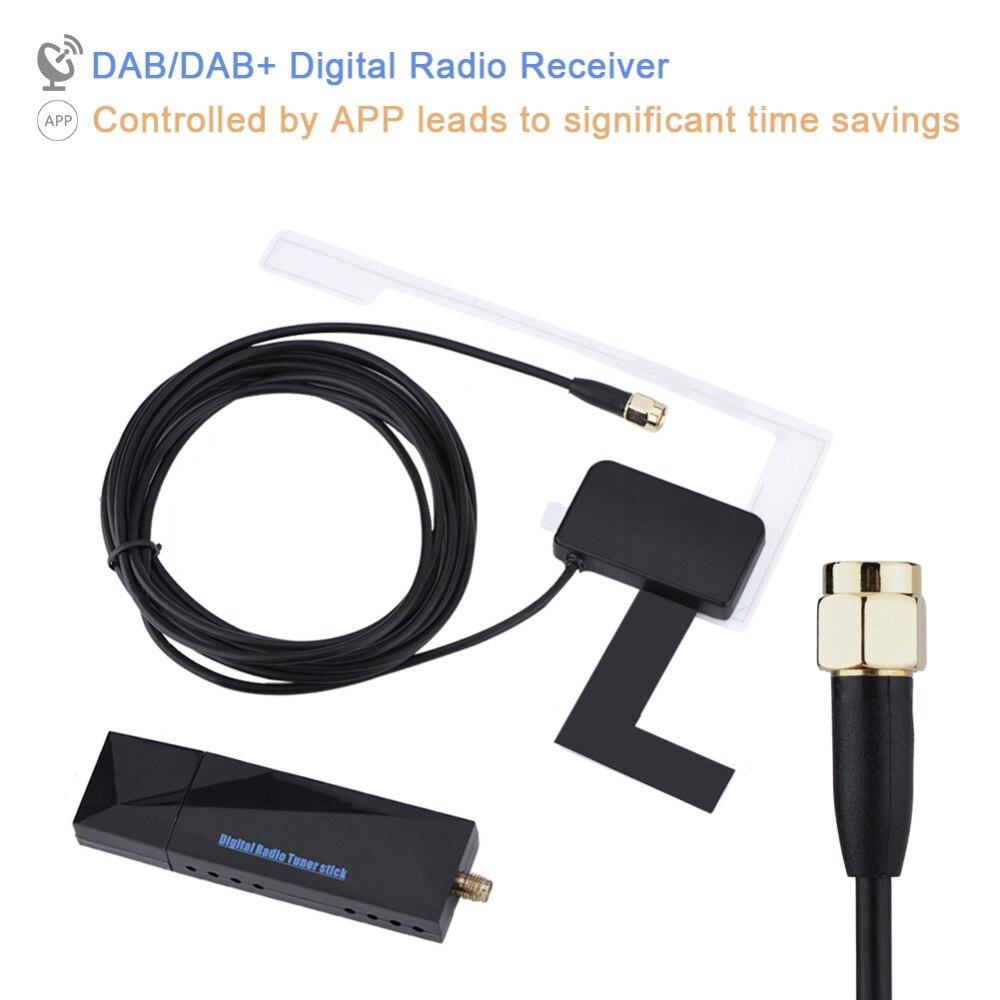 Portable AM/FM SMA DAB/DAB + Radio Numérique Antenne Récepteur Mini USB Port pour Voiture Android Système