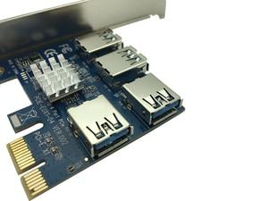 Image 5 - Tarjeta elevadora PCI Express, adaptador de concentrador de multiplicador de ranura PCI E de 1x a 16x1 a 4 PCIE USB 3,0 para máquina de minería de Bitcoin, máquina BTC