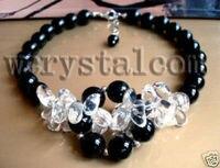 Handgemaakt Artisan Sieraden Ketting Black Onyx Crystal
