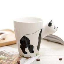 400ml Ceramic Coffee Milk Tea Mug 3D Animal Shape Hand Painted  Lovely Panda Penguin Giraffe Birthday Gifts Cup