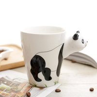 400ml Ceramic Coffee Milk Tea Mug 3D Animal Shape Hand Painted Lovely Panda Penguin Giraffe Birthday Gifts Cup