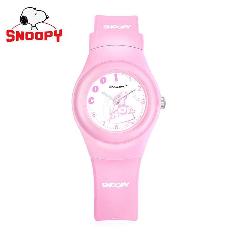 סנופי ילדים חמוד שעון שעוני יד קוורץ מקרית גברים נשים שעון סיליקון עמיד במים