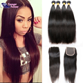 Malaysian Straight Hair With Closure Best Malaysian Virgin Hair With Closure 5pcs Human Hair With Lace Closure