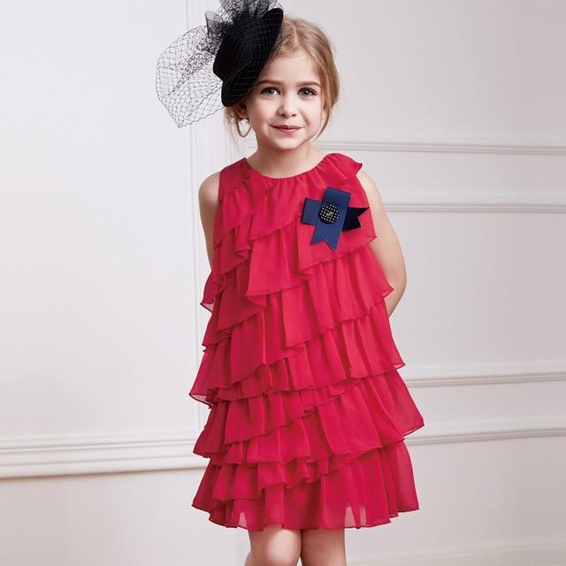 4c899728a74 2017 summer new European and American children s clothing candydoll princess  chiffon dress girls dress