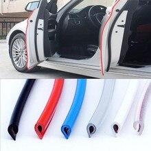 5 M/pak Auto Deur Strips Rubber Rand Beschermende Strips Side Deuren Mouldings Lijm Scratch Protector Voertuig Voor Auto S