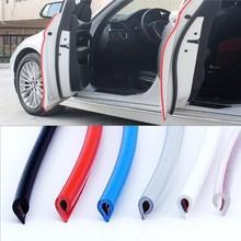 5 mt/paket Auto Tür streifen Gummi Rand Schutz streifen Seite Türen Leisten Klebstoff Scratch Protector Fahrzeug Für Autos Auto