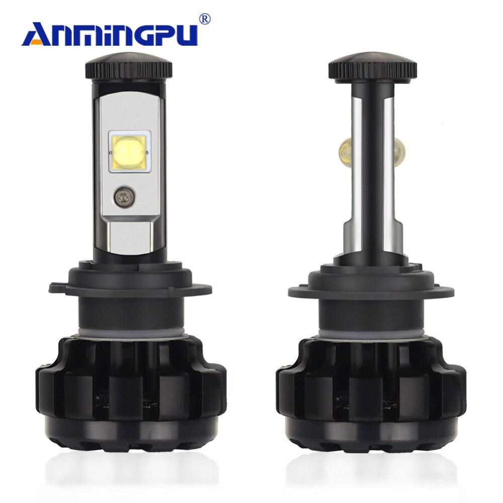 ANMINGPU 2PCS 12000LM Pair Headlight Bulbs H7 Led Bulb XHP50 Chips H4 LED H8 H11 HB3