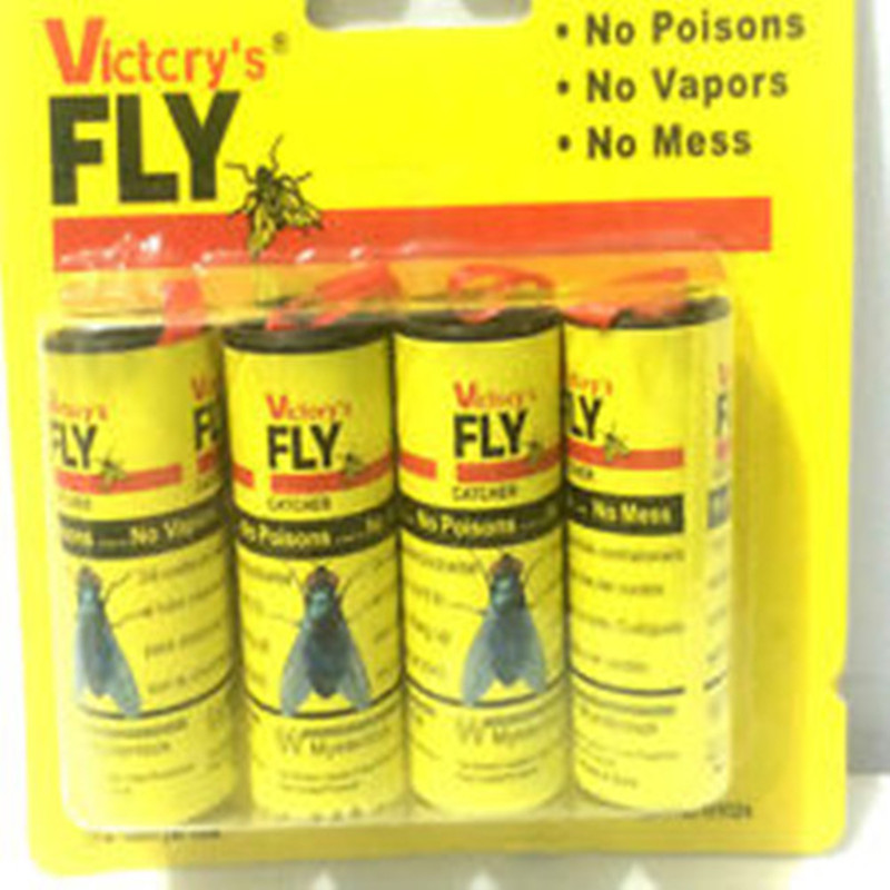 High Quality 4x Fly Sticky Paper Strip Mosquitos Killer Catcher Flying Insect Control Toxic