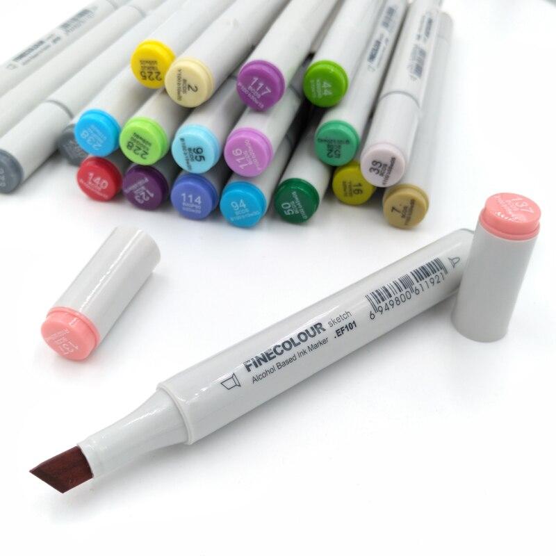 Image 3 - FINECOLOUR 160 Colors Double Headed Paint Sketch Marker Pen Architecture Alcohol Based Art Markers Set Manga Drawingart marker setmanga drawingart markers -