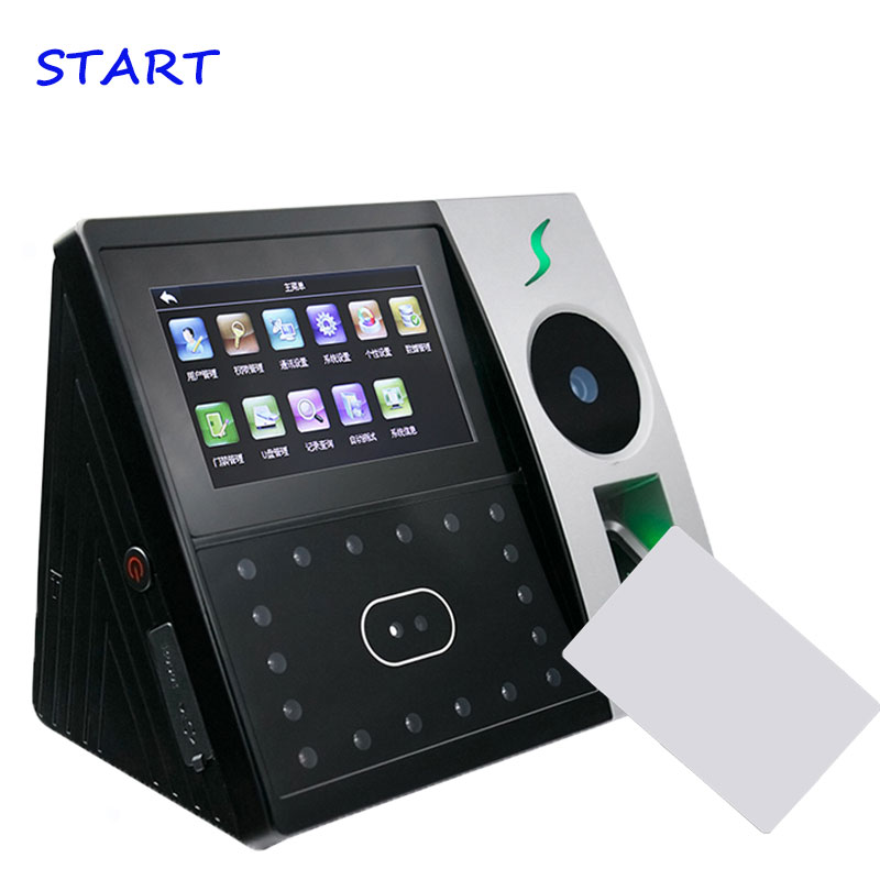 Iface702 Palm Time Attendance Door Access Control System Network 13.56Mhz Card For Office Time Clock Fingerprint Punching