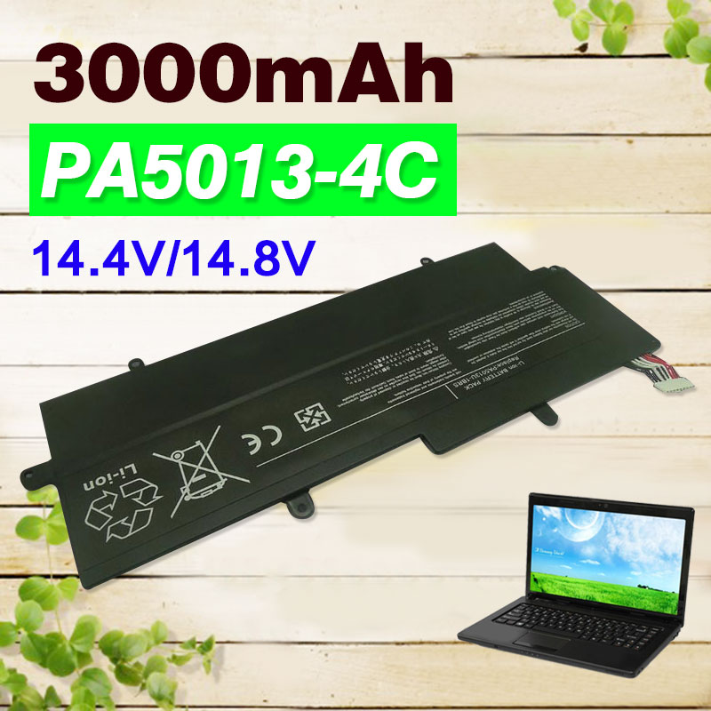 14.4V 4cell 3000mAh PA5013U PA5013U-1BRS Laptop Battery For Toshiba Portege Z930 Z935 Z835 Z830 Ultrabook Series 14 8v 47wh original laptop battery for toshiba z830 z835 z930 z935 pa5013u 1brs