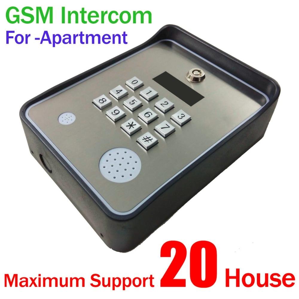 Türsprechstelle Zielstrebig Gsm Tastatur Intercom Mit Tür Zugang Und Tor Opener Für Wohnung Maximale Unterstützung 20 Häuser