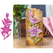 Blooming Lilies Metal Cutting Dies for Scrapbooking and Cards Making Paper Craft New 2019