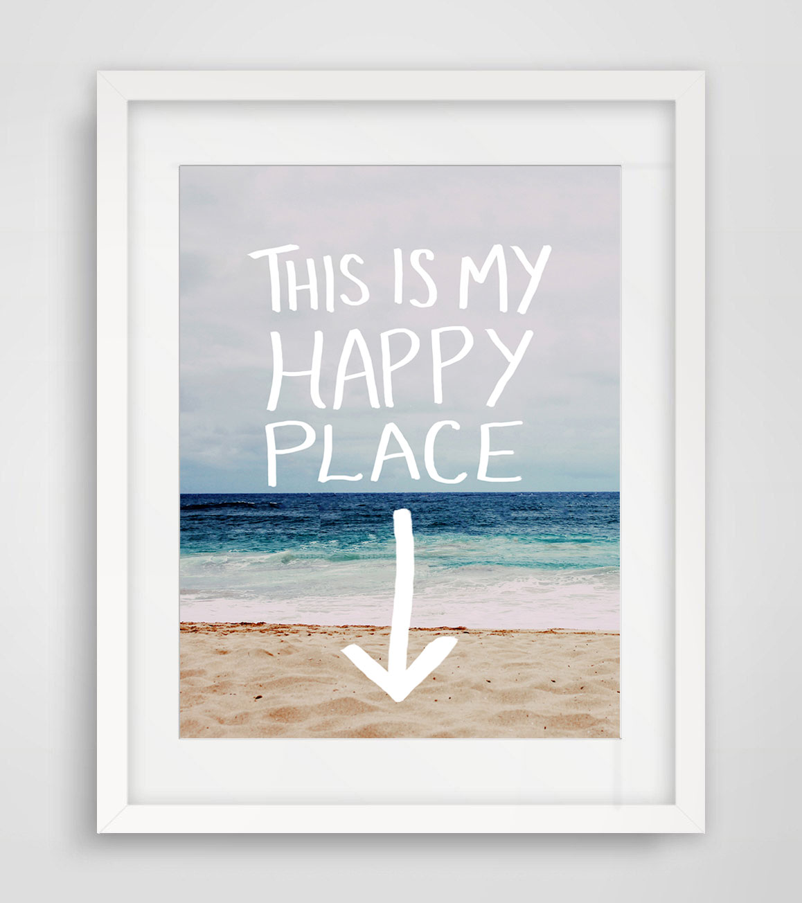 US $5.99 |This Is My Happy Place Quotes Wall Art Beach Decor Landscape Sea  Wall Art Print Love Wedding Art Gift AP064-in Painting & Calligraphy from  ...