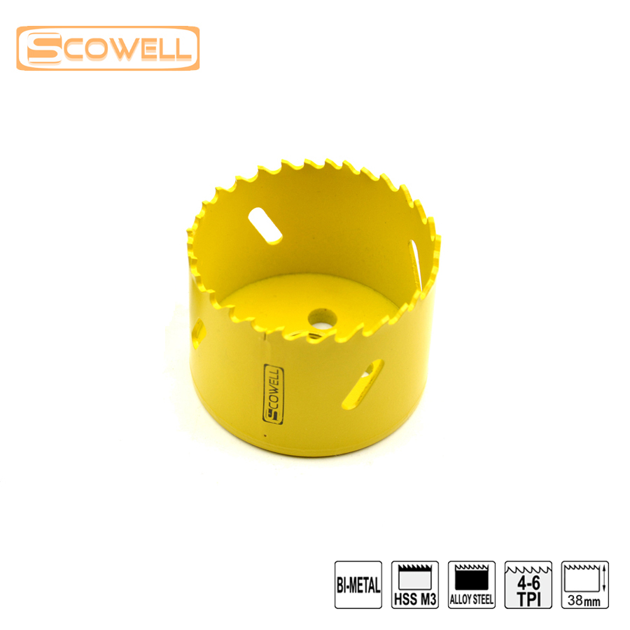 variable teeth Bi-metal M3 Hol esaw Cutting blades 65MM for Metal cutting.Quickly Release Holesaw Cutter Drill Bit Free Shipping