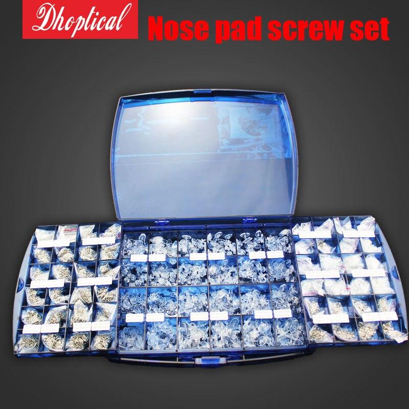 Optical Frames Eyewear Glasses Eyeglasses Screws Nose pads Nuts Washers Repair Took Kit glasses accessoris set free shipping