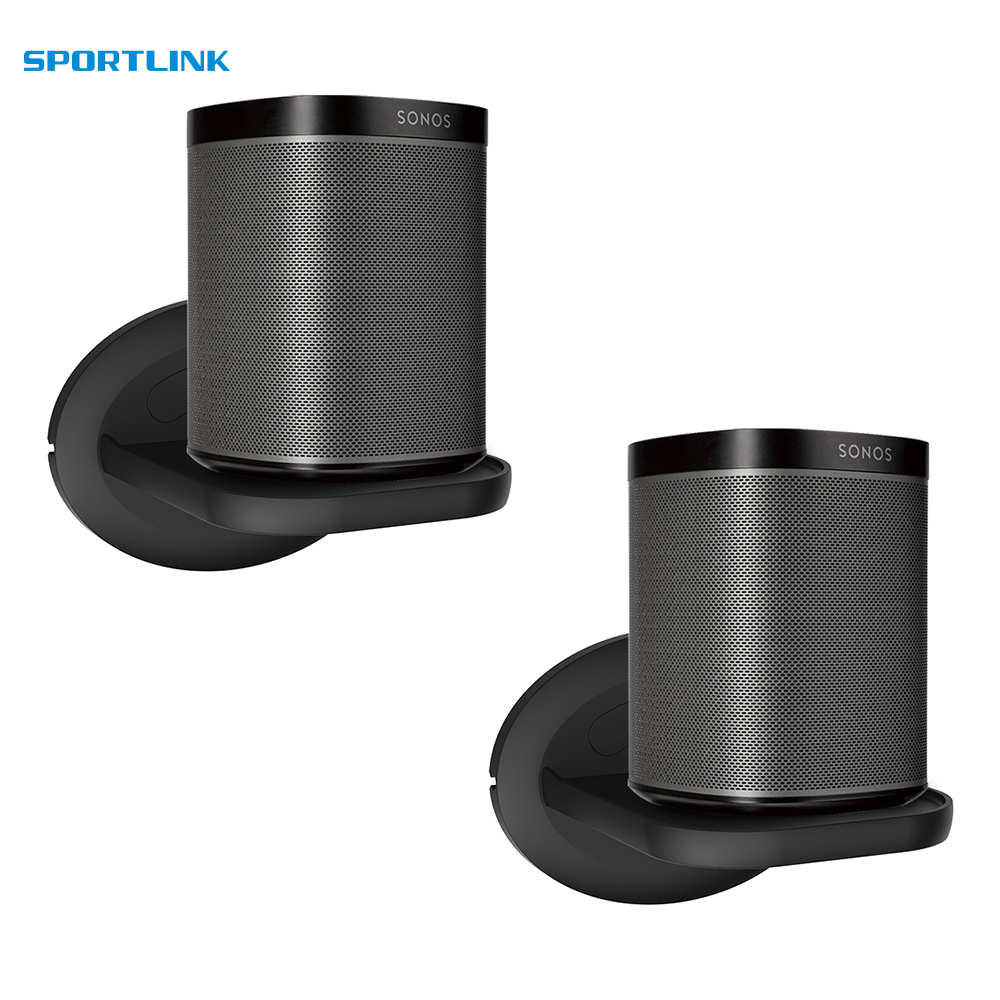 Wall Mount For Sonos Google Home Google WiFi Security Cameras Holder Bulit-in Cable Management -Space-Saving Solution 2Pack