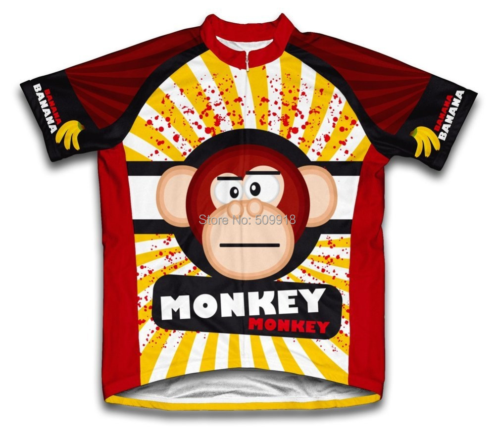 a608fd2e8 2016 Monkey Style Summer Short Sleeve Cycling Jerseys Bike Sports Clothing  Cycle Bicycle Clothes Ropa Ciclismo-in Cycling Jerseys from Sports ...