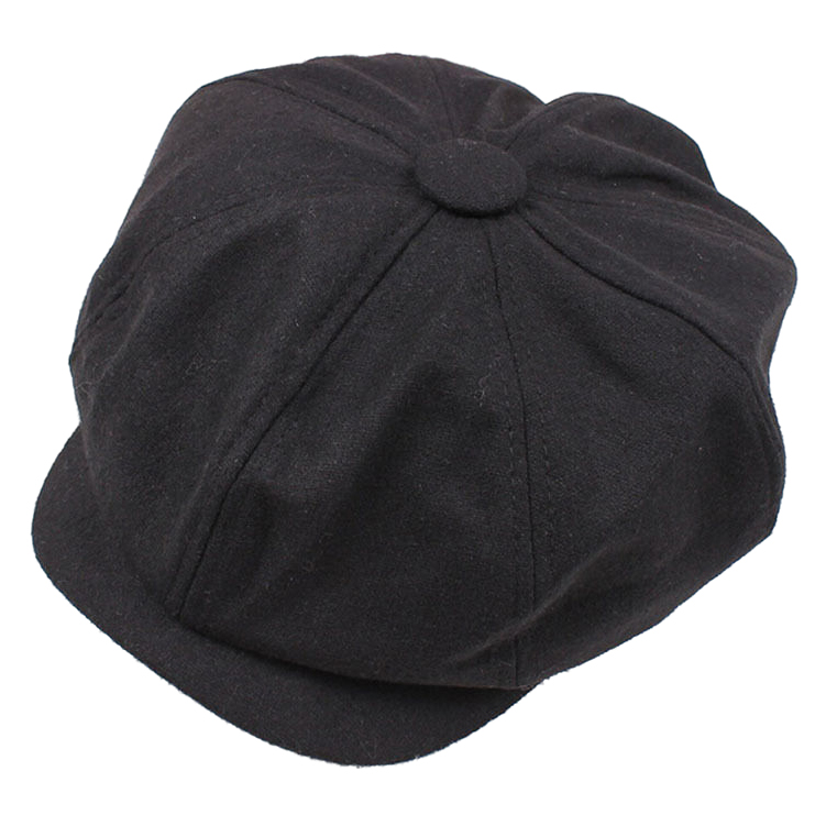 Newsboy Gatsby Cap Mens Ivy Hat Golf Driving Winter Cold Flat Plain Black