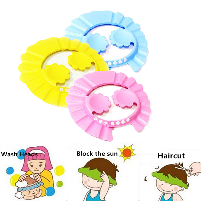 1 Pcs Adjustable Kids Shower Caps Baby Kid Care Bath Protection ...