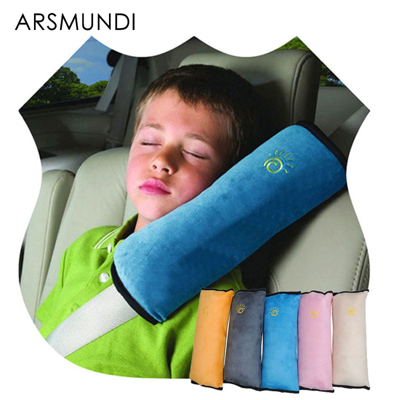 kid car pillows auto safety seat belt vehicle shoulder cushion pad children protection support soft car